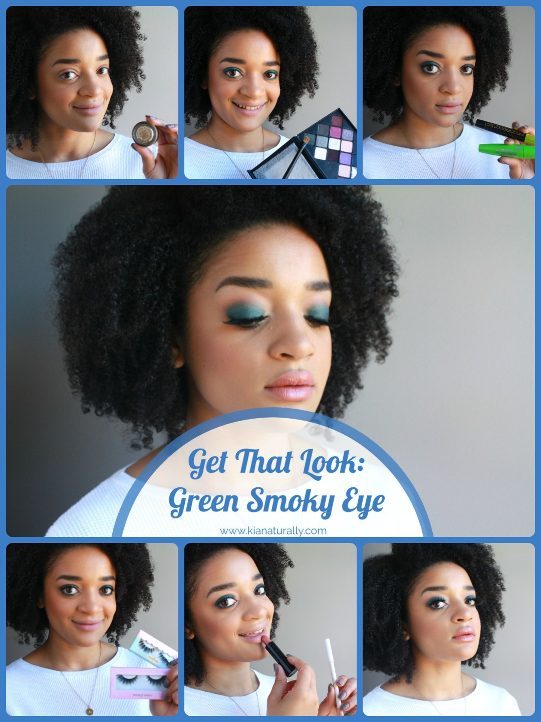 Get That Look: Green Smoky Eye - www.kianaturally.com
