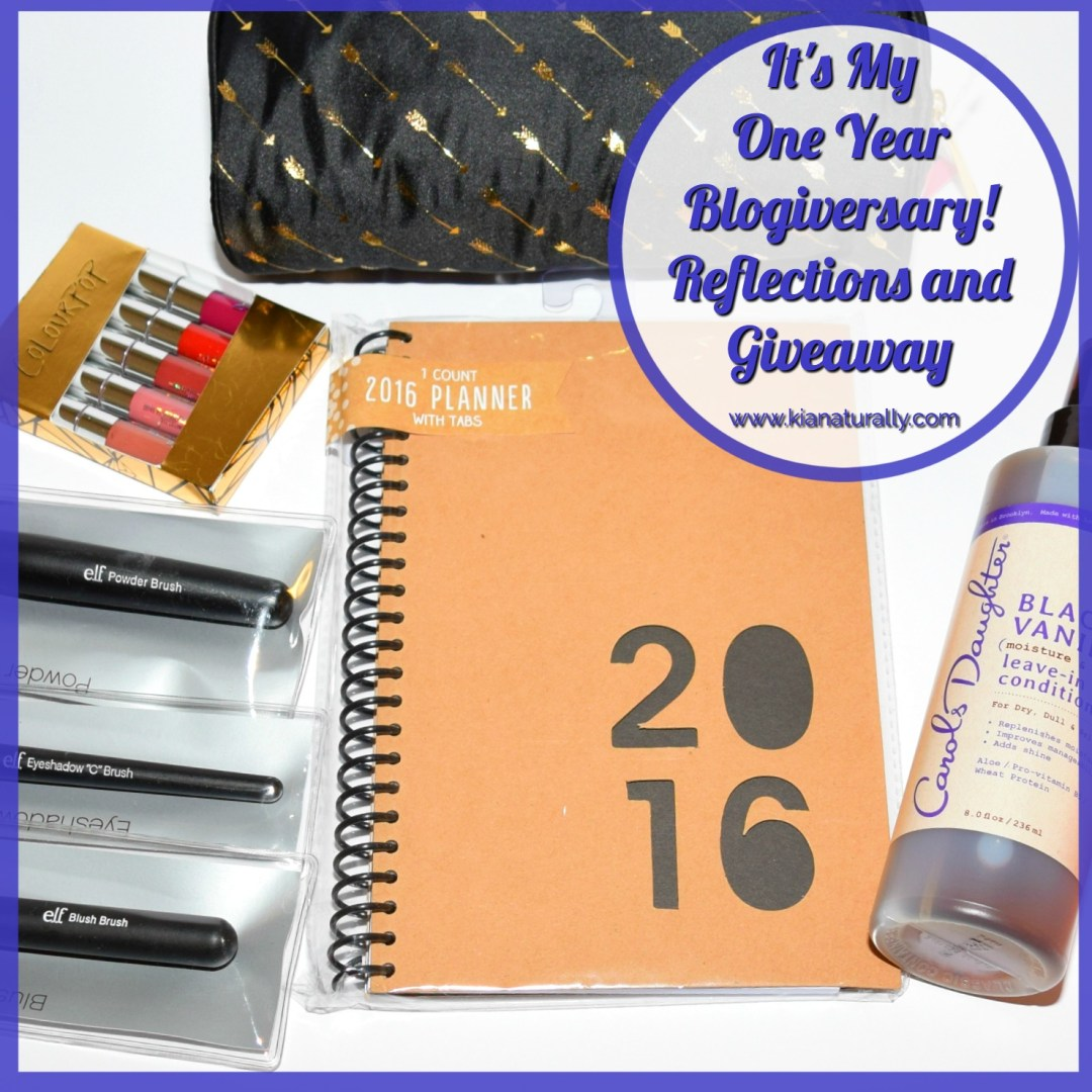 It's My One Year Blogiversary! Reflections and Giveaway - www.kianaturally.com