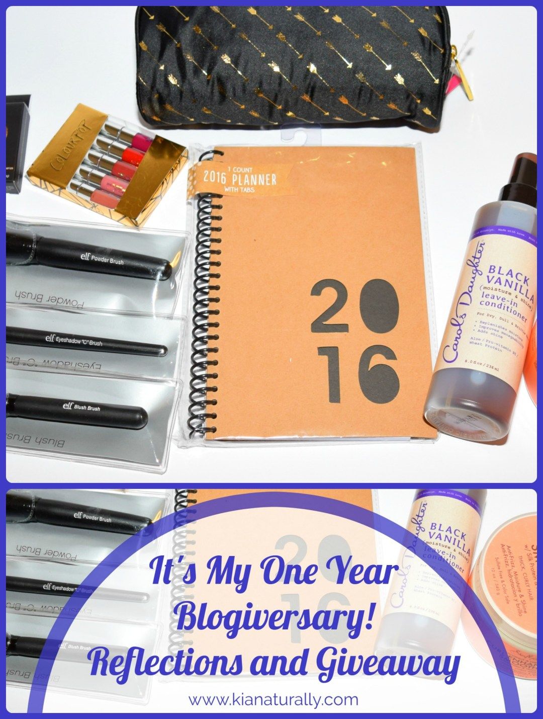 It's My One Year Blogiversary! Reflections and Giveaway (ends 1/26) - www.kianaturally.com