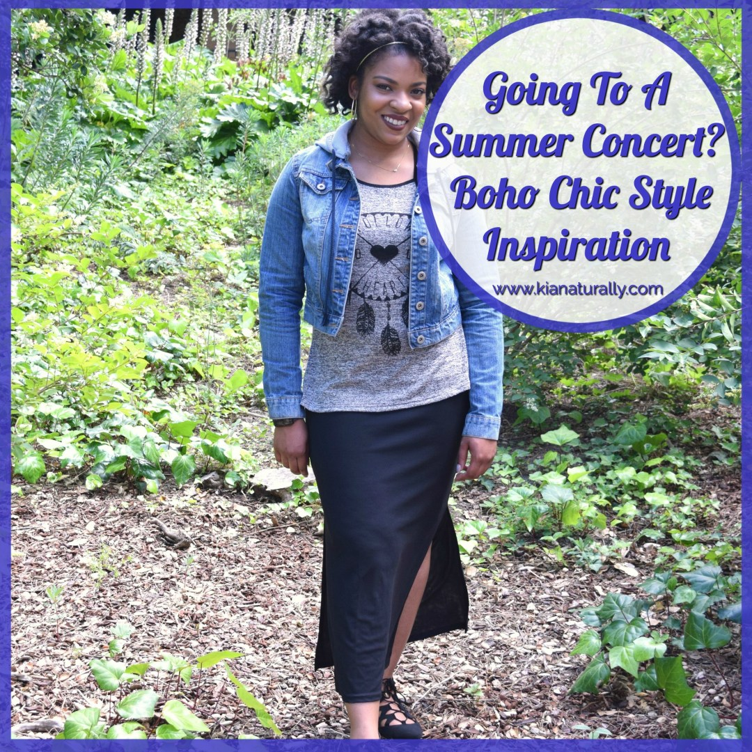 Going To A Summer Concert? Boho Chic Style Inspiration - www.kianaturally.com