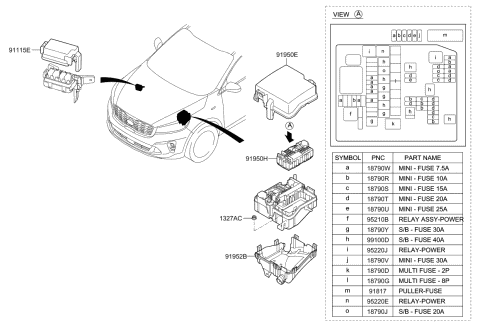 91952C5110 Genuine Kia LOWER COVER-ENGINE R