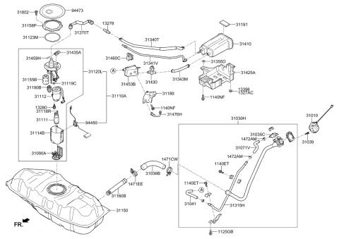 94460B2500 Genuine Kia Fuel Pump Sender Assembly