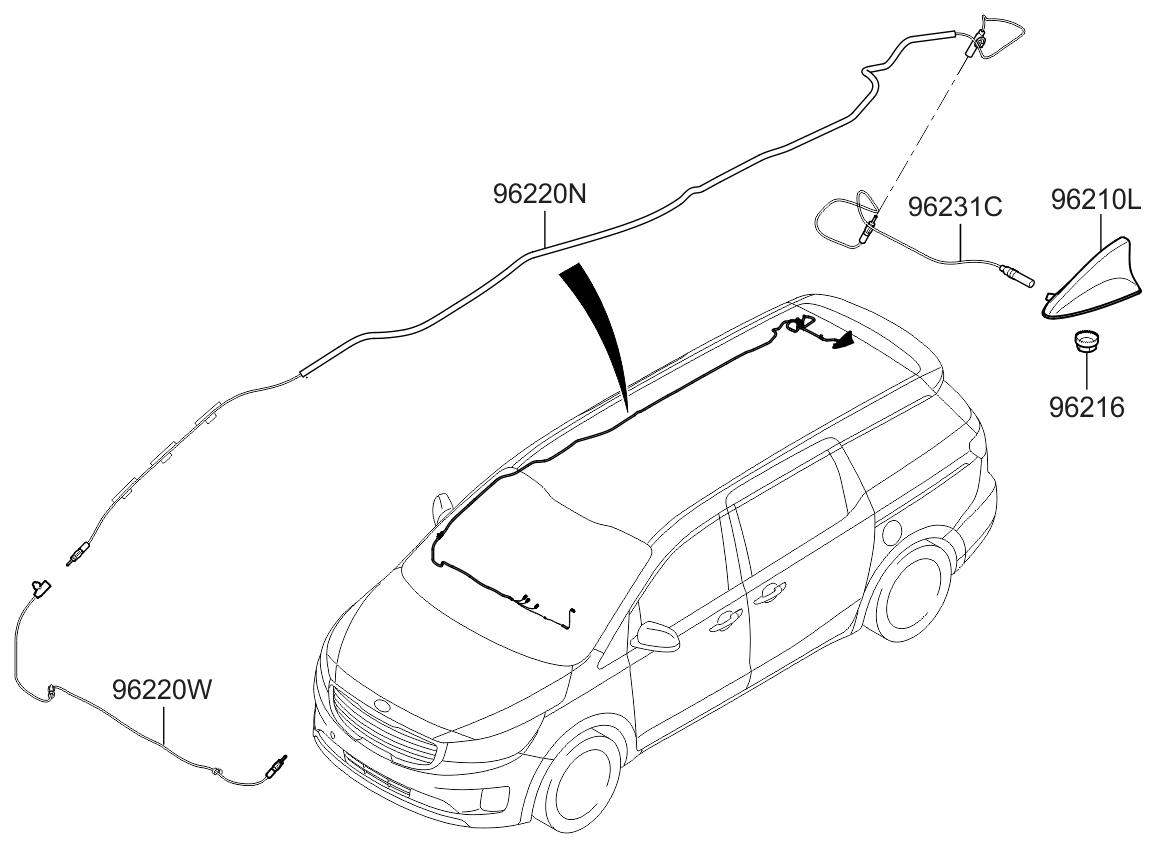 Kia Sedona Antenna