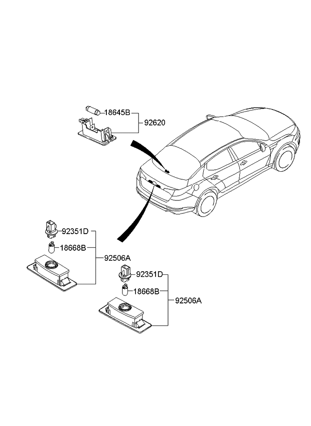2013 Kia Optima Hybrid License Plate & Interior Lamp