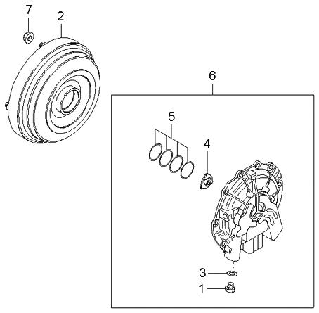 2003 Kia Spectra Sedan (Old Body Style) Oil Pump & Torque