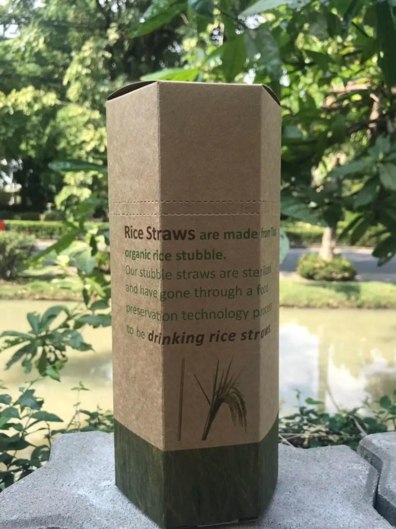 Reis-Trinkhalme von Kibala in Kartonbox