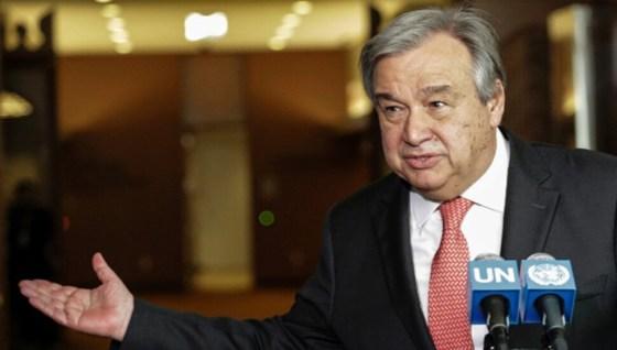 Ο Γενικός Γραμματέας του ΟΗΕ Αντόνιο Γκουτέρες: