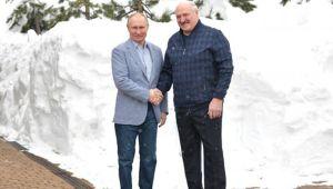 Ο Ρώσος πρόεδρος Πούτιν και ο Πρόεδρος της Λευκορωσίας Λουκασένκο