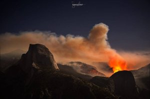 Dramatic photo of the #MeadowFire in #Yosemite National Park, courtesy of Susan Holt.