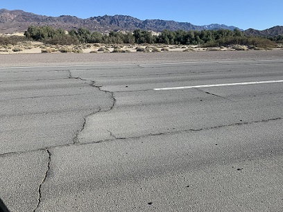 Furnace Creek Airport Runway is in Bad Shape