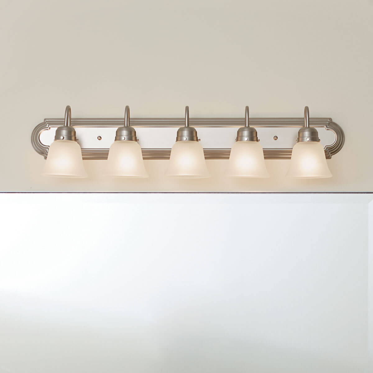 36 5 light vanity light brushed nickel