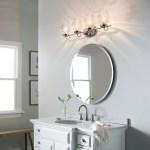 Janiel 33 25 4 Light Vanity Light With Clear Glass Polished Nickel Kichler Lighting
