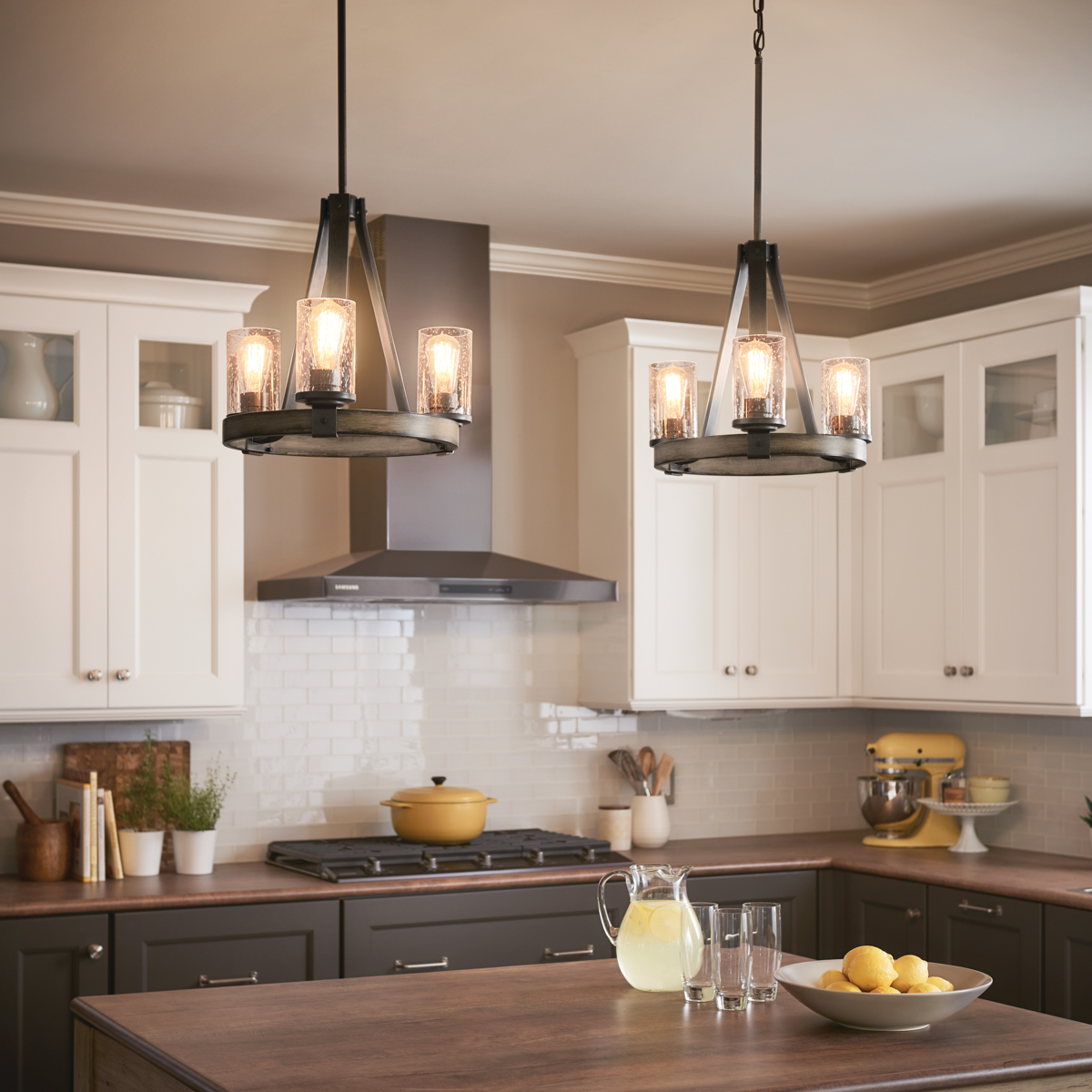 barrington 3 light chandelier anvil iron