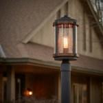Barrington 1 Light Post Light Distressed Black Kichler Lighting