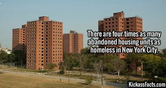 2648 Abandoned Houses-There are four times as many abandoned housing units as homeless in New York City.