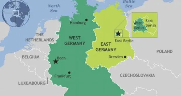 AskUs How Did USSR Prevent People From Leaving East Germany To - West germany resources map
