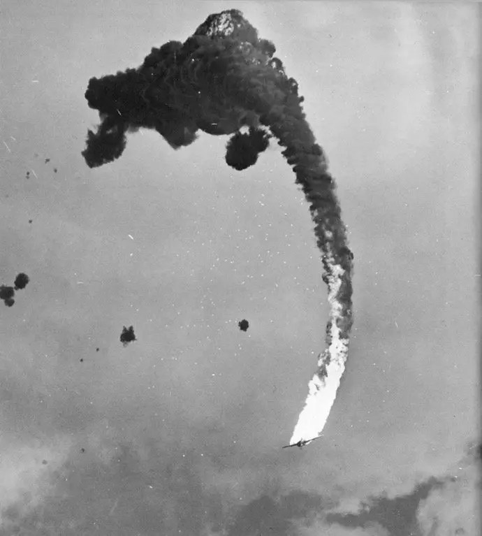 final moments of a japanese dive bomber