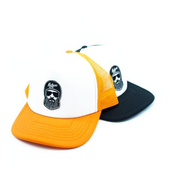 casquette trucker pour enfant Kickasss Driver Barbe orange ou noir