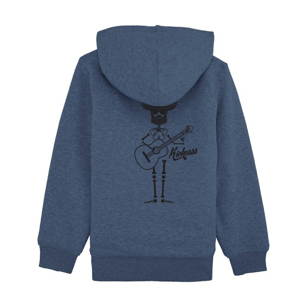 Sweat enfant doublé sherpa Kickasss Mariachi (dark heather blue)