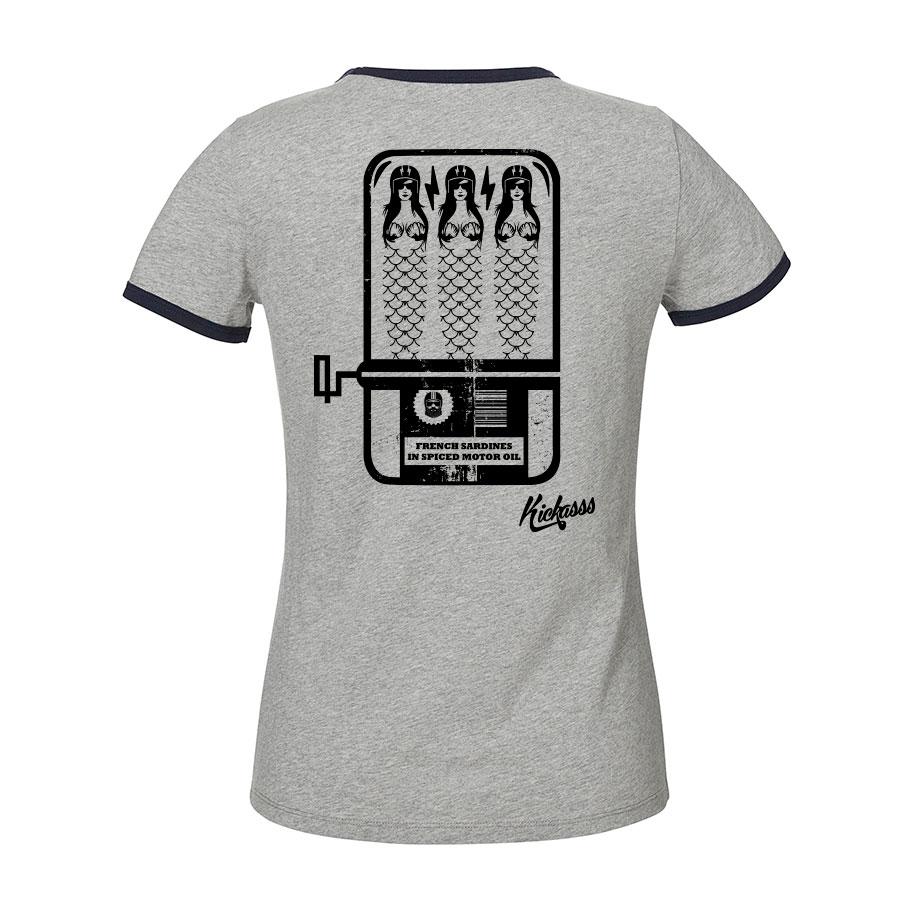 T-shirt pour femme Kickasss French Sardines (heather grey)
