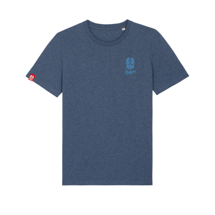 Tshirt brodé kickasss driver dark heather blue