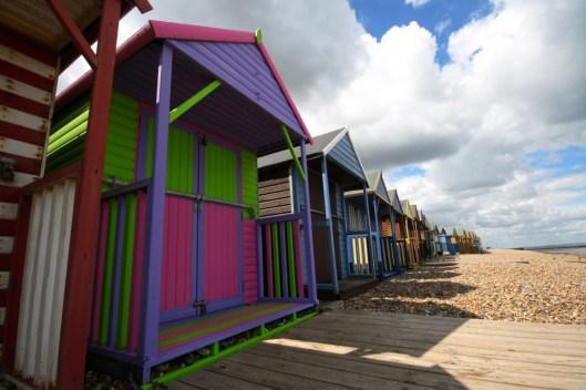 beach huts at HErne Bay