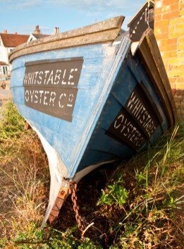 a boat with whitstable oysters