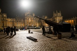 Behind the scenes at Blenheim Palace on the set of Mission: Impossible - Rogue Nation from Paramount Pictures and Skydance Productions