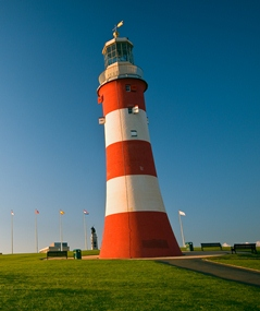 lighthouse at plymouth Hoe