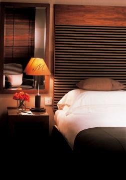 bedroom shot dimly lit