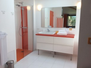 free standing unit in bathroom