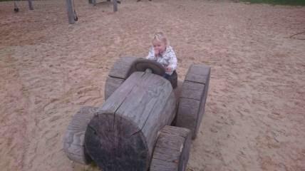 Tilly enjoying the park