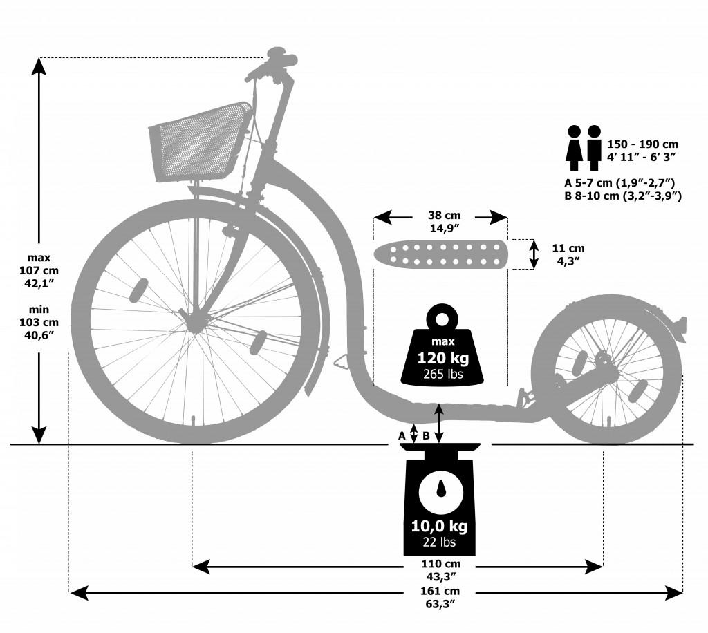 Kickbike CityG4 Dimensions