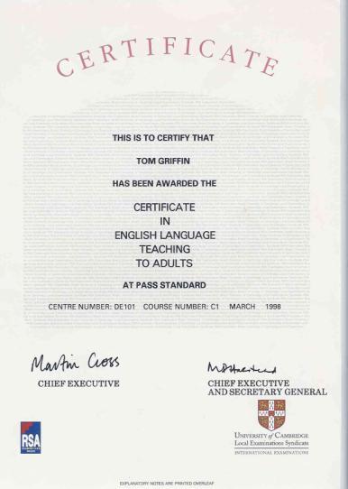 International Business: Certificate In International