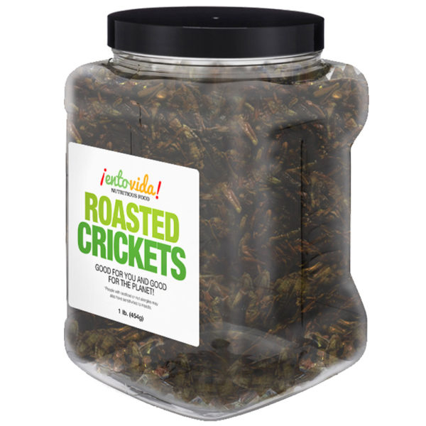 Jar 1lb Crickets Whole Roasted