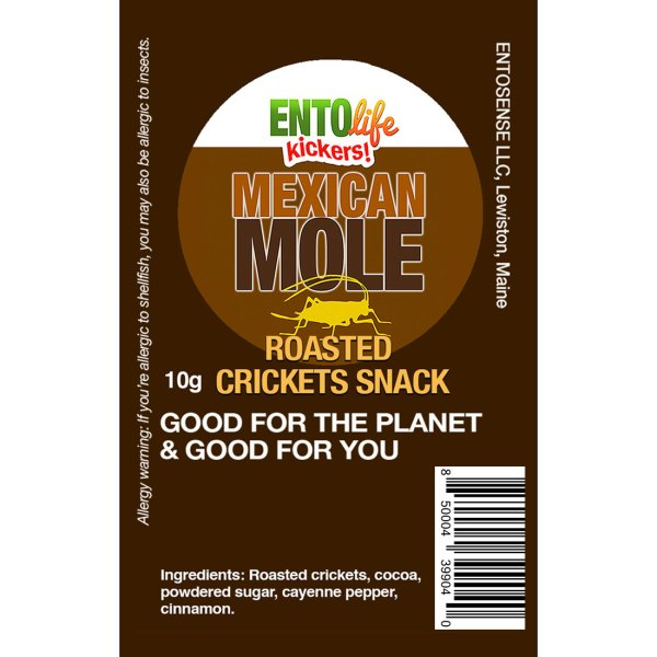 Mexican Mole Mini-Kickers Crickets Label