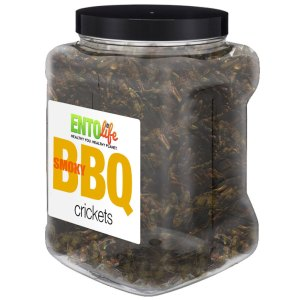 Jar 1lb Crickets Smokey BBQ Flavor