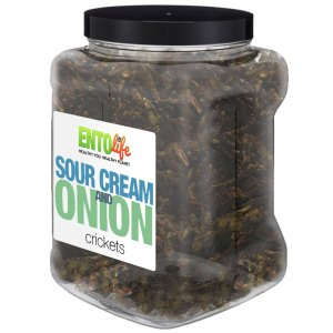 Jar 1lb Crickets Sour Cream and Onion Flavor