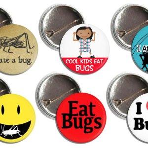 Entomophagy Bug Buttons