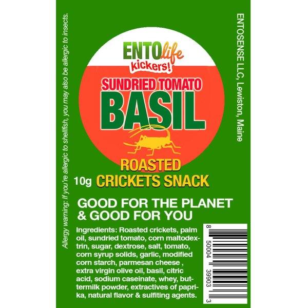 Sun Dried Tomato Mini-Kickers Crickets Label