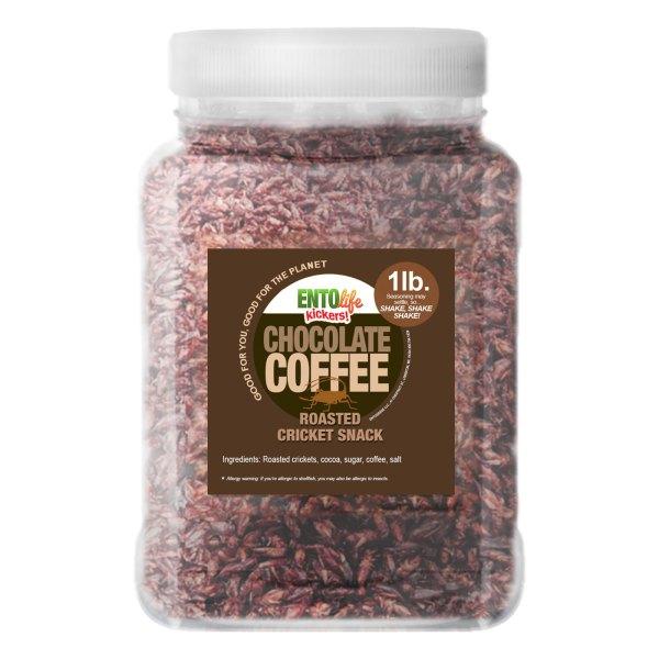 Pound Edible Crickets Chocolate Coffee Flavor