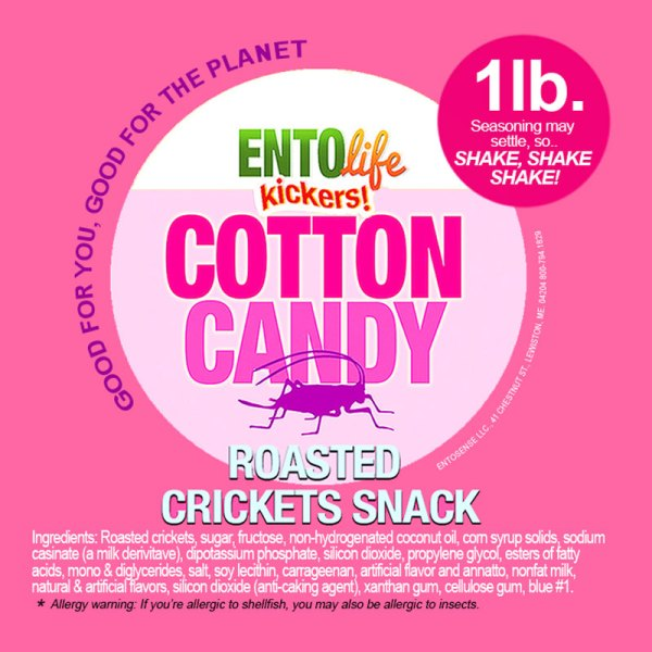 Cotton Candy Crickets Label