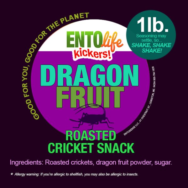 Dragon Fruit Crickets Label