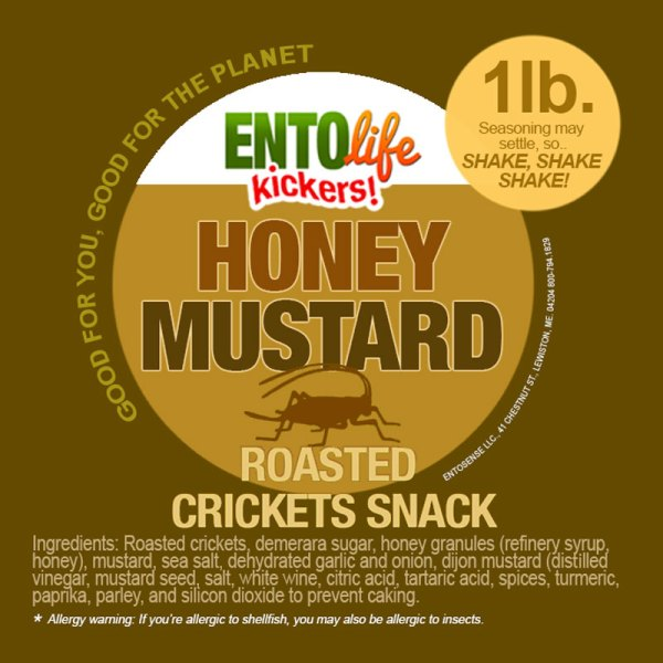 Honey Mustard Crickets Label