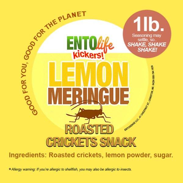Lemon Meringue Crickets Label