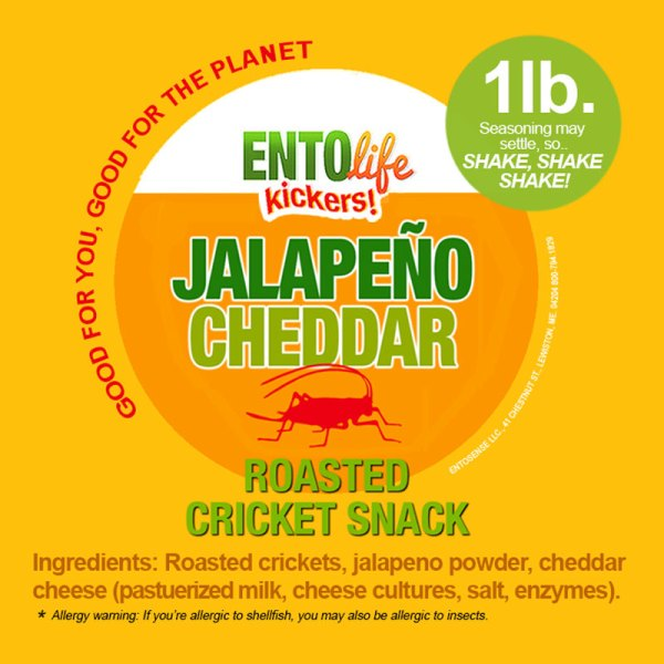 Jalapeno Cheddar Crickets Label