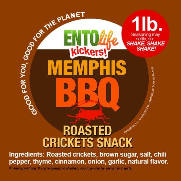 Memphis BBQ Crickets Label