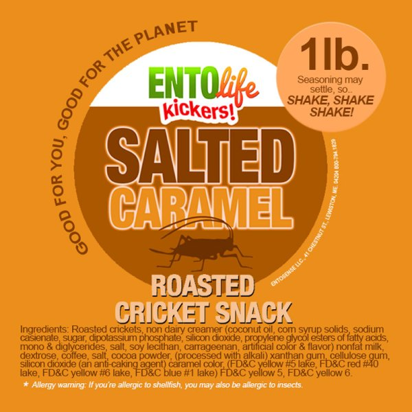 Salted Caramel Crickets Label