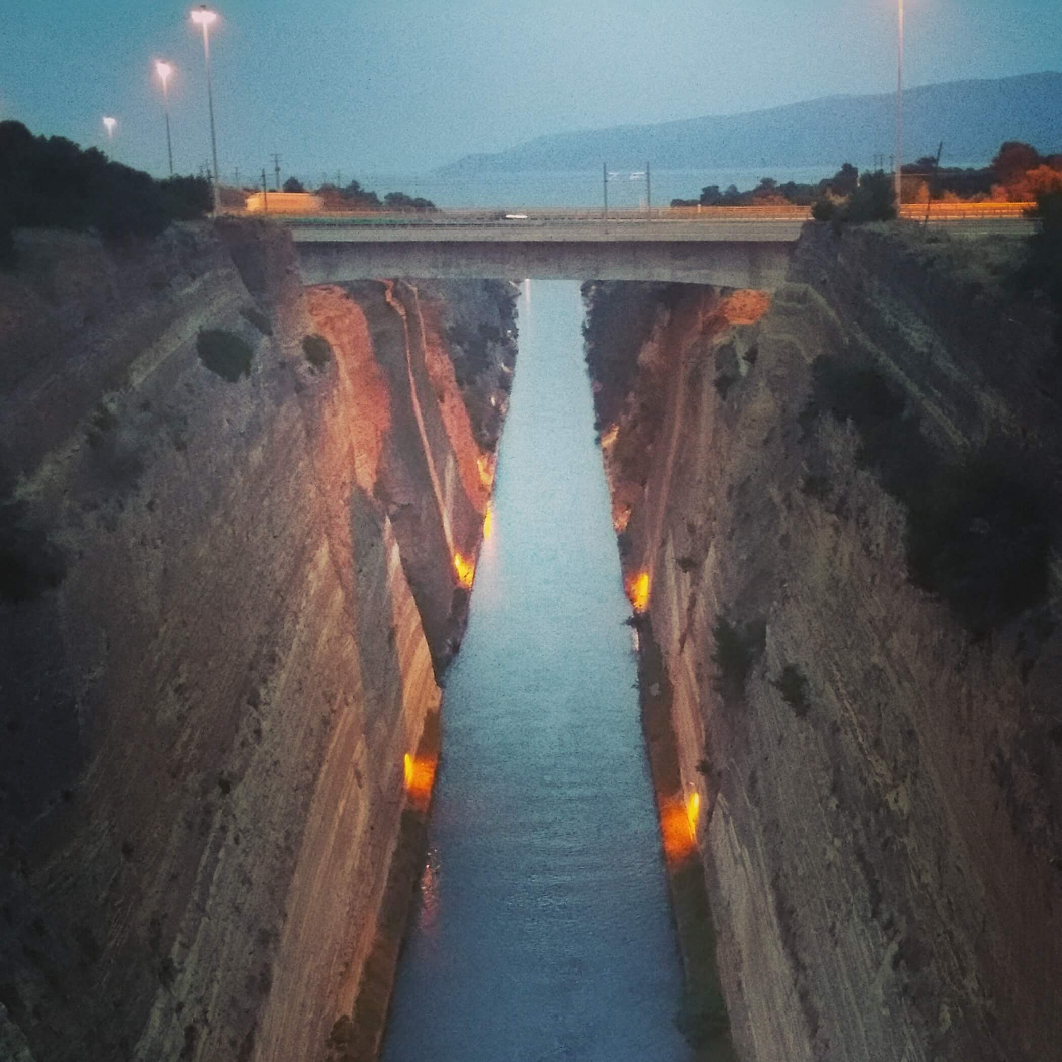Corinth Canal | Kicking Back the Pebbles