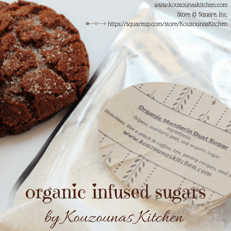 Organic Infused Sugars | Kouzounas Kitchen